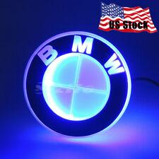 Sport Illuminated 4D LED Car Rear Tail Logo Badge Emblem Lights For BMW Blue