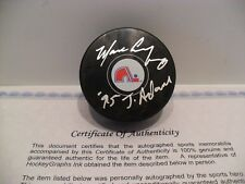 "Marc Crawford Autographed Quebec Nordiques Puck COA - Inscribed  ""'95 J. Adams"""
