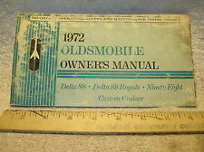 1972 Oldsmobile 98 / 88 Owners Manual - Good Used