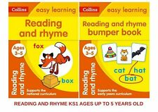 READING & RHYME KS1 PRE SCHOOL AGES 3-5  **2 BOOK BUNDLE WORKBOOK STUDY BOOK