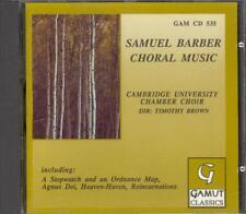 BARBER - Choral Music / Agnus Dei / Twelfth Night - Timothy BROWN - Gamut