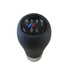 5 speed real Leather Gear Shift Knob for BMW 5 7 series Sport ///M E36 E46 E34