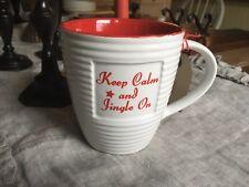 LG Coffee Mug Christmas Thoughts, Old Pottery Company KEEP CALM & JINGLE ON New.
