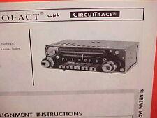 1967 SUNBEAM ALPINE ROADSTER TIGER CONVERTIBLE RAPIER AM RADIO SERVICE MANUAL 1