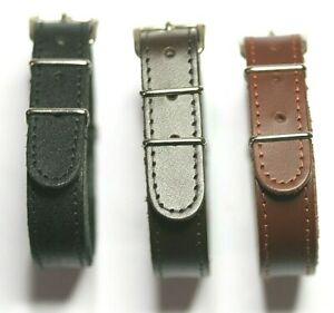 GENTS LEATHER G10 STRAP FOR WW1 MILITARY TRENCH WATCH 10,12,14MM MADE IN WALES