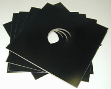 "(10) 12JWBKHH 12"" Glossy Black Record Jackets with Hole LP Vinyl Jackets Sleeve"