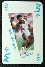 1 x playing card London 2012 Olympic Legends Daley Thompson Athletics 3C