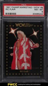 1991 Championship Marketing WCW Ric Flair #8 PSA 8 NM-MT