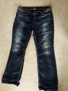 Silver Suki Mid Rise Slim Boot Cut Jeans Women's Size 20W  Super Stretch