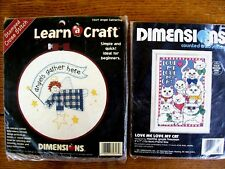 Dimensions Cross Stitch Kits, Angels Gather Here, Love Me Love My Cat