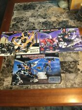 Mega Bloks Blok Bots Jackal & Scorpion, Warriors Night Force Manuals Only