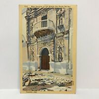 Postcard VTG 1936 Catholic Church Main Doorway at Old Mission San Xavier Del Bac