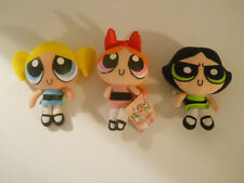PowerPuff Girls dolls SET of 3 plush stuffed Buttercup Bubbles & Blossom Cute  B