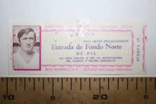 %  ENTRADA FUTBOL, PARTIDO HOMENAJE A IGNACIO ZOCO, 1974, REAL MADRID VER FOTO