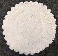 "6 Pieces White 14"" 100% Cotton Vintage Handmade Round Crochet Doily Doilies Mat"