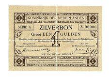 More details for netherlands 1 gulden zilverbon banknote, 01.05.1916, p-8s, perforated specimen