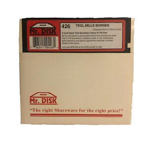 """Vintage TEGL Mille Bornes IBM PC Game 5.25"""" Floppy Disk Mr Disk #426"""