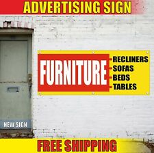 Furniture Banner Advertising Vinyl Sign Flag shop Recliners Sofas Beds Tables