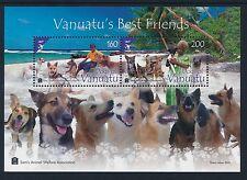2013 VANUATU DOGS OF VANUATU MINISHEET FINE MINT MNH/MUH