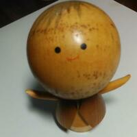 WOODEN JAPANESE HAND PAINTED KOKESHI DOLL ANTIQUE OBJECTS