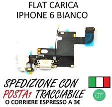 CONNETTORE DOCK FLAT DI RICARICA JACK AUDIO CON MICROFONO IPHONE 6 BIANCO WHITE