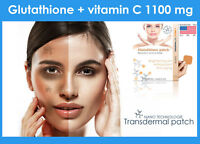 Glutathione plus vitamin c patches skin lightning anti-oxydant 30 days 1100 mg
