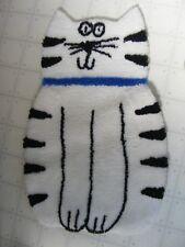 Wakefield Mills decorative TABBY CAT kitty 100% Trevira polyester rug 22 x 34