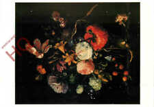 Picture Postcard__Jacob Van Walscappelle, Flowers In A Glass Vase