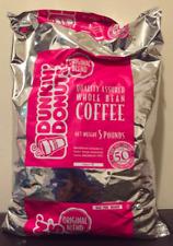Dunkin Donuts Whole Bean Coffee (5 LBS Bag)