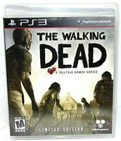 The Walking Dead Limited Edition PS3 VG 2012 w/ Poster Manual Zombies Game