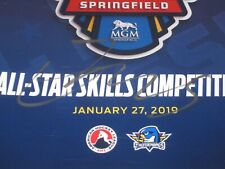 Anthony Greco Signed Autographed 2019 Ahl Skills Competition Program