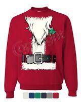 Santa's Jacket Sweatshirt Santa Claus Christmas Xmas Sweater