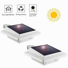 2//4 Stück 3LEDs Solarlampe Licht für Dachrinnen Außenlampe Leuchte Wandlampe