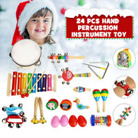 Percussion Xylophone Set 24X Kids Toddler Musical Instrument Toys Band Kit Gift