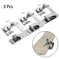 3Pcs/Set Sewing Machine Foot Hemmer Presser Rolled Hem Feet For Brother  *