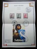 Germany Nazi 1937 Stamps used Shield Bearer The Reich's Air Protection League WW