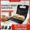 3Typ Sandwichmaker Waffel Fleisch Toaster Sandwichtoaster Paninitoaster 750W XXL