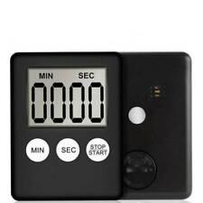 Slim Magnetic LCD Digital Kitchen Timer Countdown Cooking Multi Purpose Alarm
