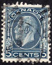 King George V Medallion Issue 5 cents - Major Re-entry - Scott 199i - Used VF