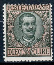 REGNO D' ITALIA 1910 FLOREALE 10 LIRE N. 91 G.I** - 44