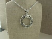 Sterling Silver Celtic Dragon Pendant KEITH JACK Jewelry Strength & Wisdom