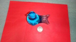 Vintage=Blue Art Glass Bird Figurine for Collection=NR=