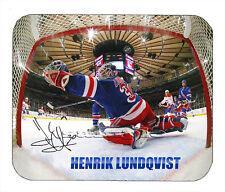 Item#1790 Henrik Lundqvist Cage Rangers Facsimile Autographed Mouse Pad