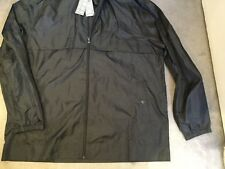 M&S BLACK SHOWER RESISTANT PACK-AWAY MAC WITH DRAWSTRING LINED HOOD - BNWT