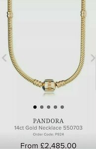 Pandora 14ct gold moments Necklace.