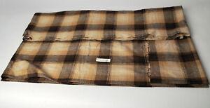 "Vintage Plaid Brown Wool Scotland Fabric 3 1/4 yards x 62"" wide sewing Dunoon"