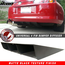 "22"" x21"" Ikon Style Universal Rear Diffuser Canards 4 Fin Textured Matte Black"
