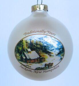 Vintage Jackson NH Traditionally Yours Glass Christmas Ornament