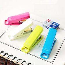 Candy Color Paper Binding Staples Stapler Mini Set