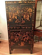 Hand Painted Oriental Style Cabinet